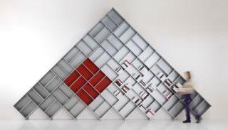 modular design bookself-pyramid www.gizmodo.com.au