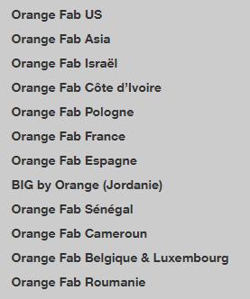 Orange Fab network