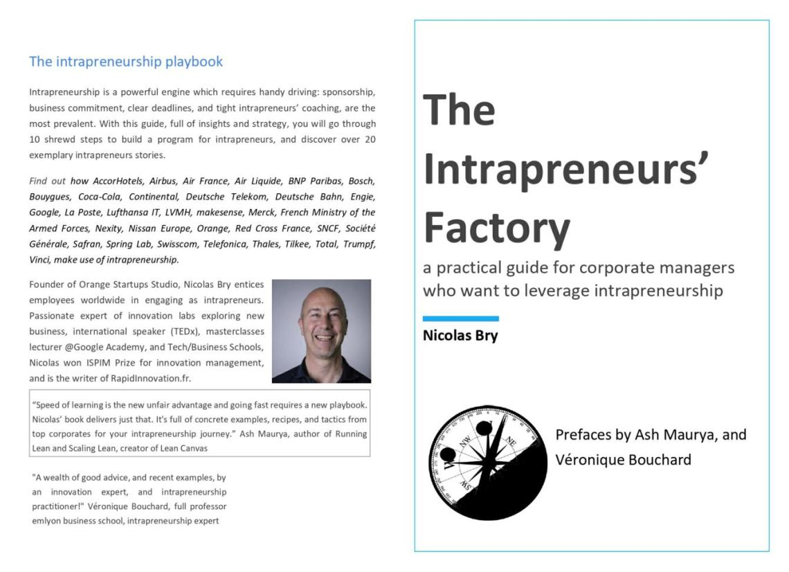 The Intrapreneurs' Factory - Cover 32 x 23 - 1340 x 971 2019 November 12